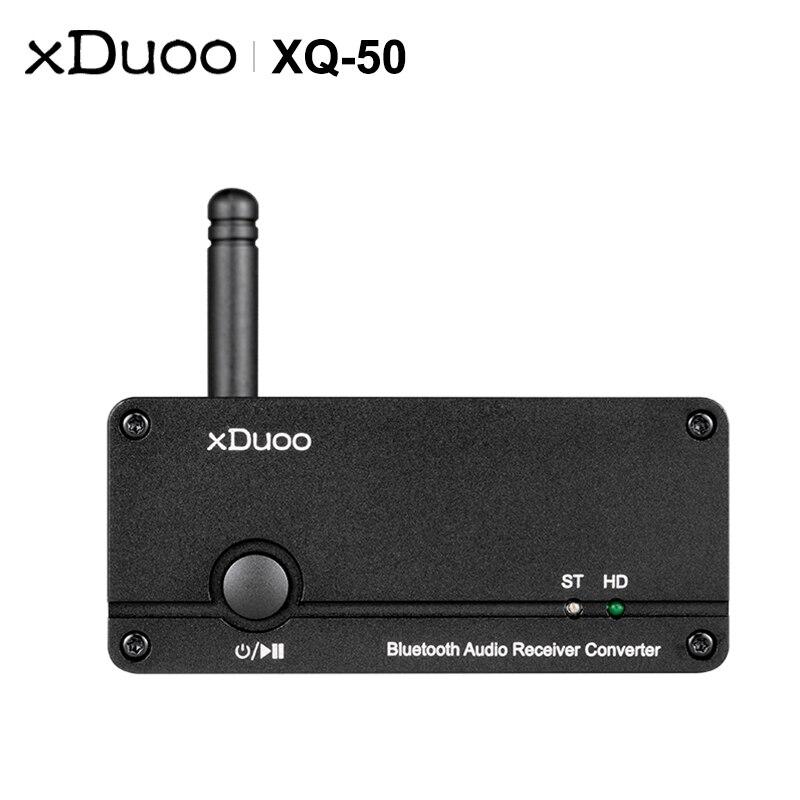 XDUOO XQ-50 Bluetooth 5,0 receptor de Audio PC USB DAC ES9018K2M Chip apoyo aptX/SBC/AAC XQ50 de Audio inalámbrico convertidor