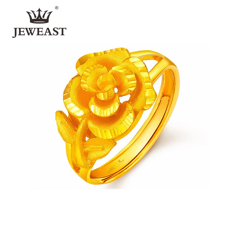 YSF-خاتم من الذهب الخالص عيار 24 قيراطًا من ذهب عيار 999 ، مجوهرات كلاسيكية فاخرة أنيقة ورائعة ، 2020
