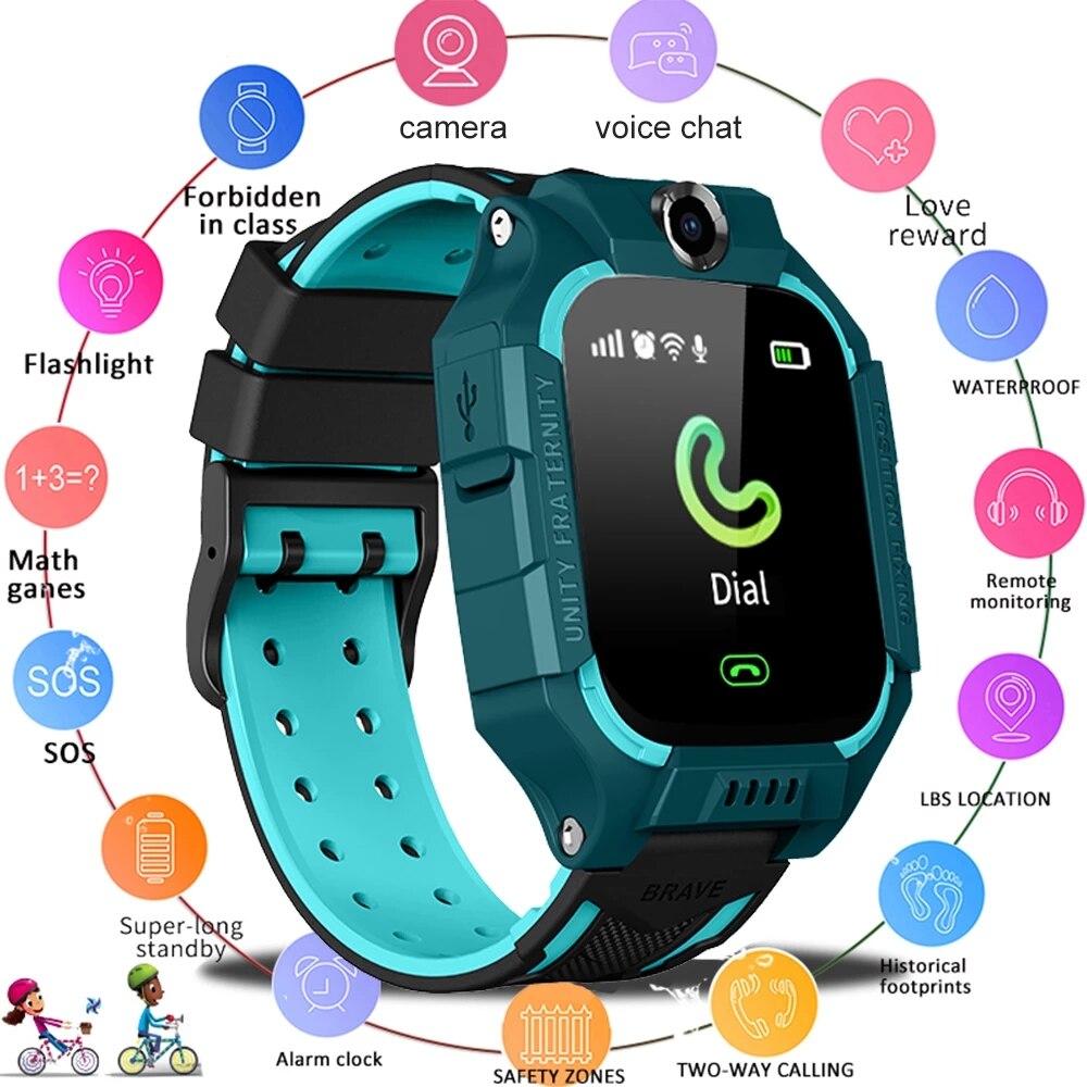 IP67 Children's Smart Watch Boys Girls Gift Smartwatch With Sim Card Camera Children's Smart Watch SOS Phone Watch