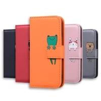 cartoon wallet case for huawei p40 mate 20 lite pro p30 p20 p10 p9 lite pro p smart 2019 leather flip phone case cover etui