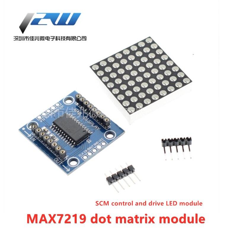 MAX7219 dot matrix modul SCM control und stick led-modul 8X8 LED dot matrix display modul