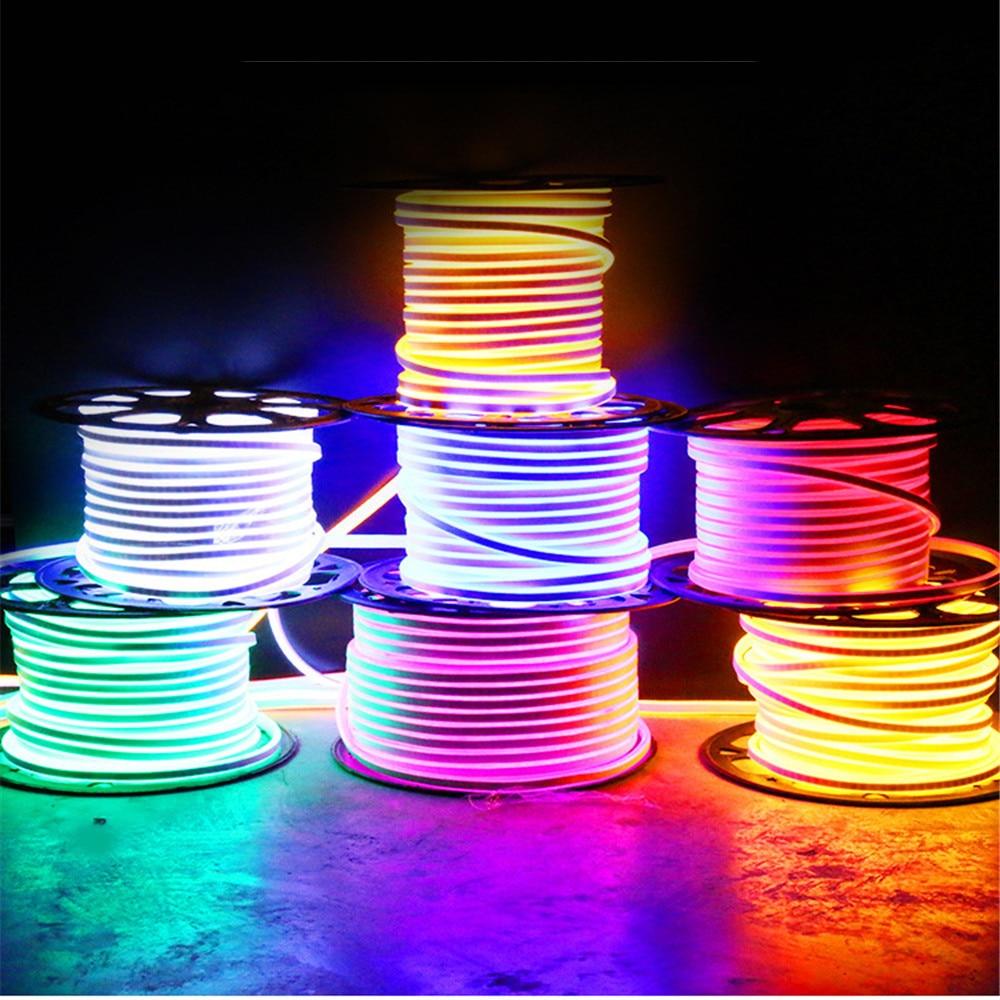 Неоновый светильник s 220v, светодиодный светильник, гибкая Водонепроницаемая уличная лампа для помещений, Рождественское украшение, светоди...