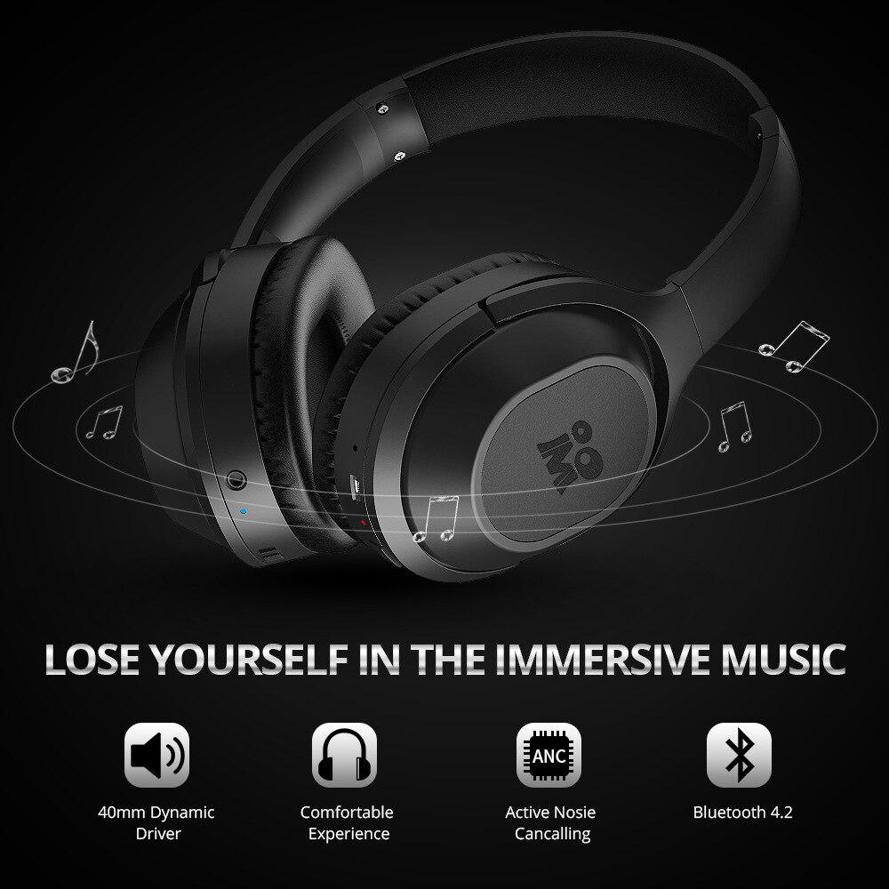 Bluetooth fones de ouvido sem fio fone de ouvido estéreo over-ear cancelamento de ruído fone de ouvido jogos fone de ouvido com microfone apoio tf cartão