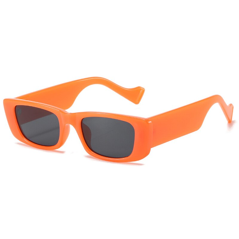 Vintage Square Sunglasses Women Retro Small Rectangle Sun Glasses Female Sexy Orange Eyewear For Men