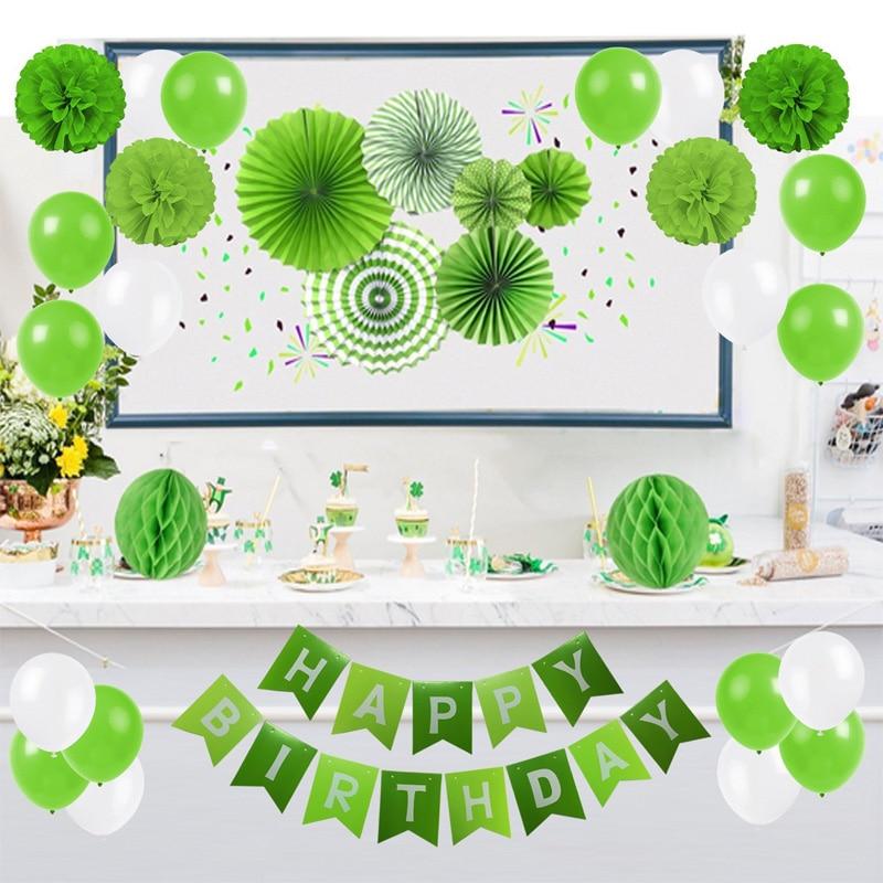 بالونات زخرفية لحفلات ما قبل الولادة وأعياد الميلاد وحفلات الزفاف ، لافتة ، مناديل ورقية ، بوم بوم ، زهور ، وردي ، أخضر ، أزرق ، أسود