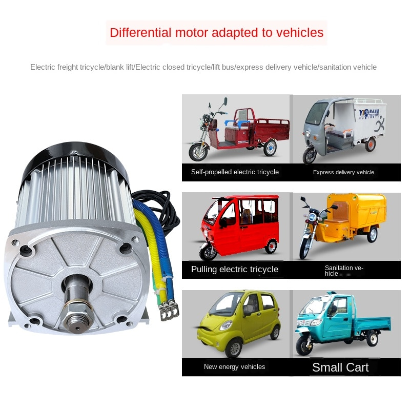 High-power Electric Motorcycle Modified DC Brushless High-speed Electromobile Electric Tricycle Electric Machine 48v60v72v2200w enlarge
