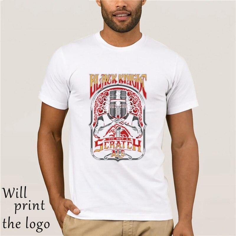 Popular Mannelijke Zwarte ribder Tis Maar Een Kras Monty Python camiseta 3D estampado Hombre Camisetas