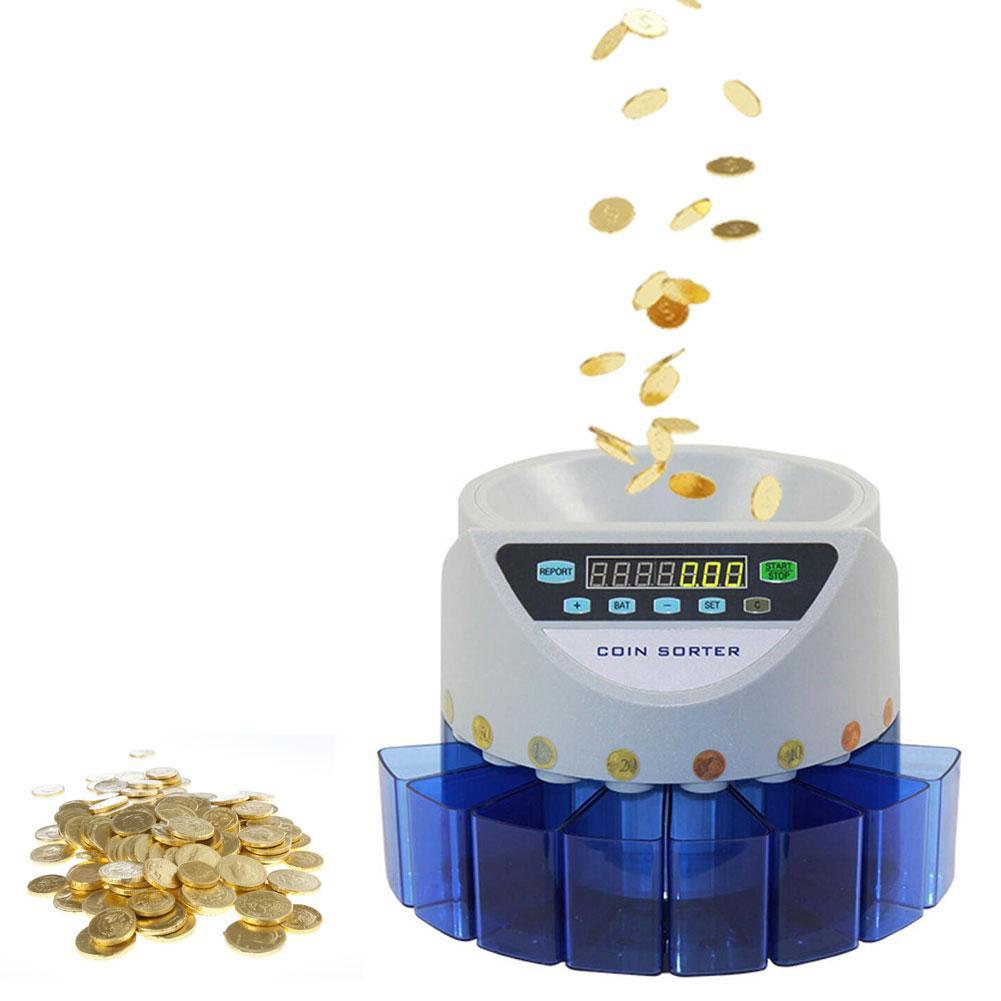 آلة عد العملات الإلكترونية الأوتوماتيكية ، عد دفعي للعملات المعدنية ، فارز عملات الجنيه الإسترليني