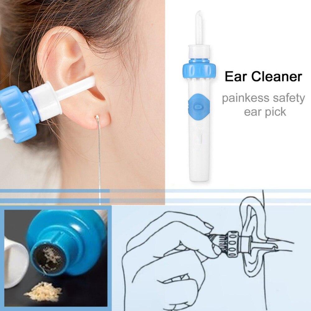 Fuerte vibración succión salud hisopos inteligentes cuidado de la oreja limpiador de La Oreja vibración de succión Limpieza de orejas eliminación de cera de la oreja i-ears
