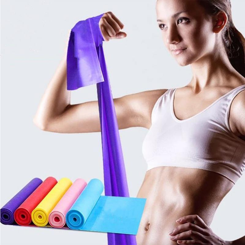 1M Rubber Bands Functional Training Theraband Workout Equipments For Sports At Home Gym Office Yoga