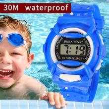 New Waterproof Children Watch Boys Girls LED Digital Sports Watches Plastic Kids Alarm Date Casual W