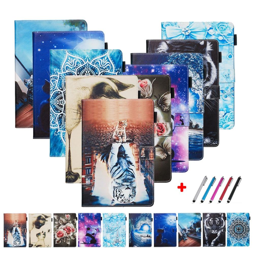 SM-T580 A6 Coque Para Samsung Tab 10.1 Caso Dos Desenhos Animados Tampa do Suporte de Couro Para Samsung Galaxy Tab UM 6 10 1 capa Tablet T585 T580