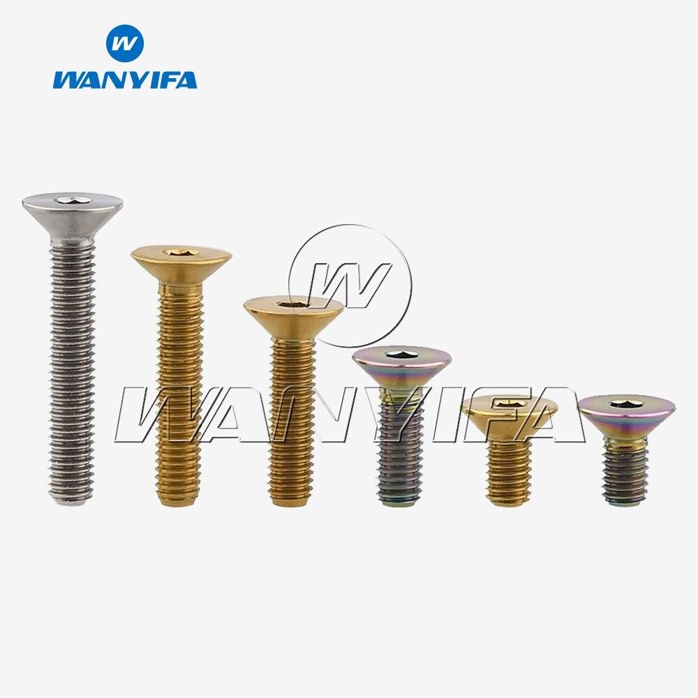"""Титановый """"wanifa"""" Ti M5 x 10 12 15 20 25 30 мм шестигранный ключ плоский потайной головкой болт"""