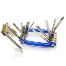 Outil de cyclisme outils de vélo Mo-métallique multi-fonction Mini vélo poche Kits de réparation trousse doutils ensemble doutils 6 hexagonaux ouvreur pour vélo