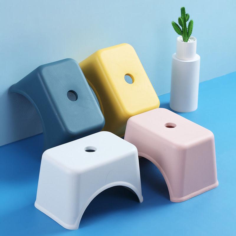 Креативные утолщенные пластиковые табуреты для гостиной, нескользящая скамейка для ванной, детский ступенчатый стул, Сменная обувь, стул, д... табуреты экокожа