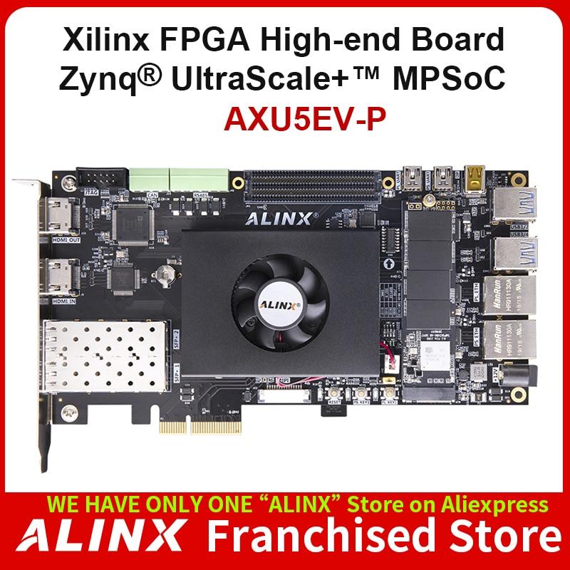 ALINX AXU5EV-P: Xilinx Zynq UltraScale+ MPSoC ZU5EG FPGA Development Board AI PCIe3.0 H.265 Automotive ADAS Vitis-AI