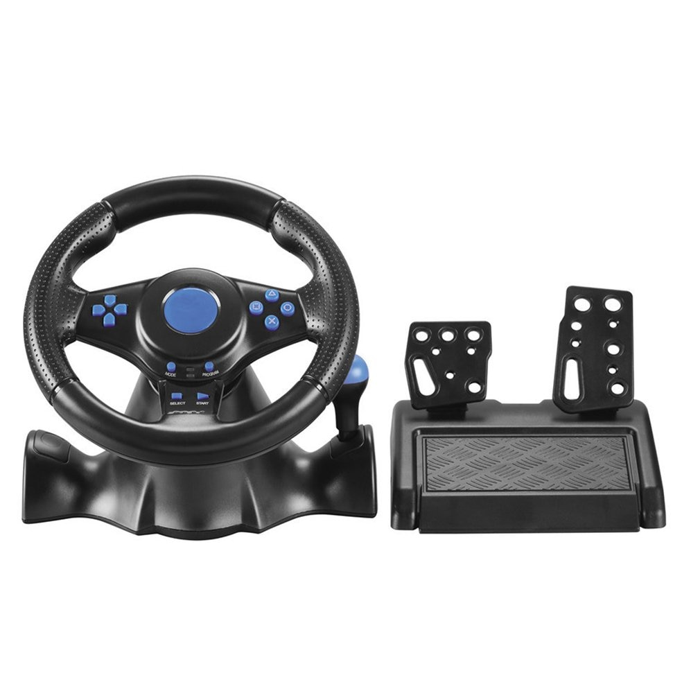 4 In 1 Racing Steering Wheel For Ps4 Shock For Ps2 Game Steering Wheel PC Vibration Joysticks Remote Controller Wheels Drive