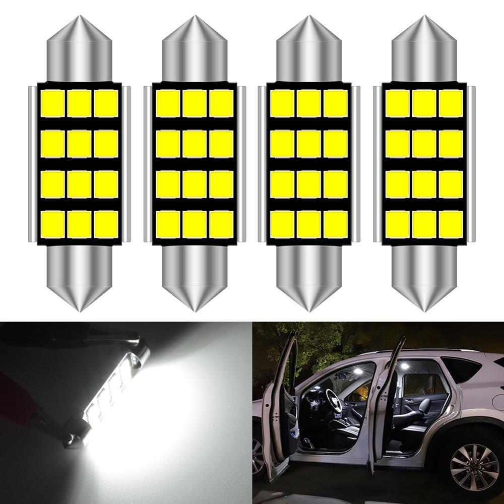 4x C5W светодиодный светильник CANBUS гирлянда 31 мм 36 мм 41 мм для салона автомобиля для Volkswagen VW Golf 4 5 6 7 Passat B6 B5 B7 Polo Tiguan CC