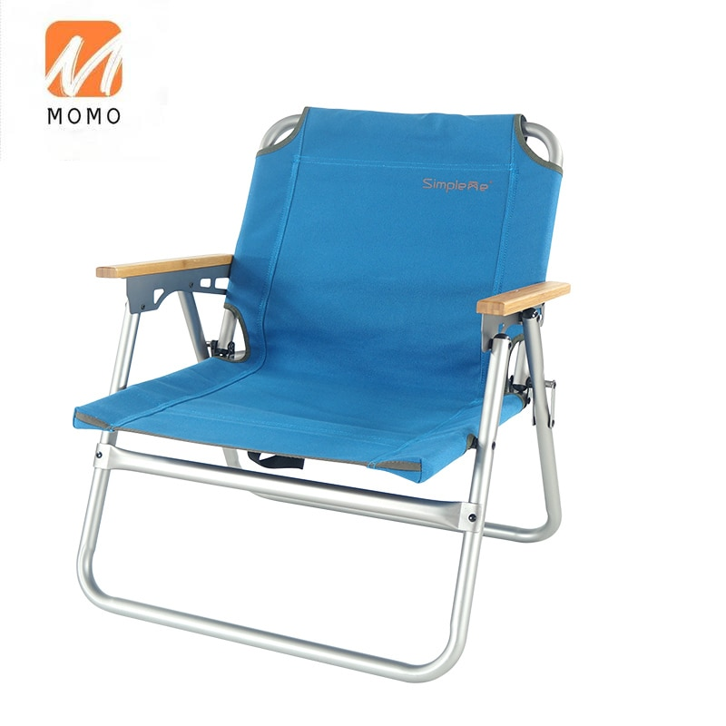 Low Seat Camping Beach Chair Aluminum Alloy Foldable Portable Small Outdoor