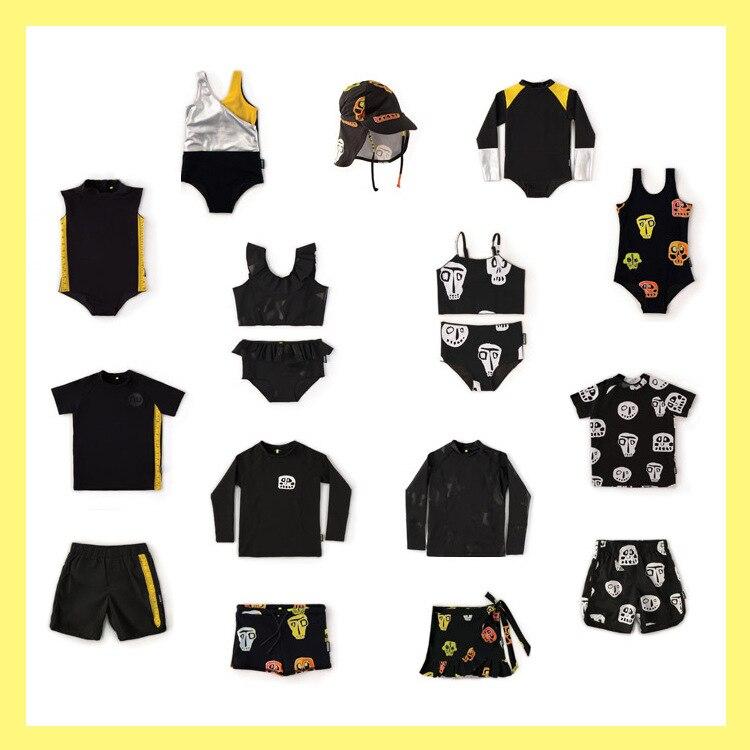 Ensemble de vêtements pour garçons et bébés   Ensemble avec crâne et t-shirts 2 pièces, vêtements pour la plage 1 pièce, pour bébés garçons et filles