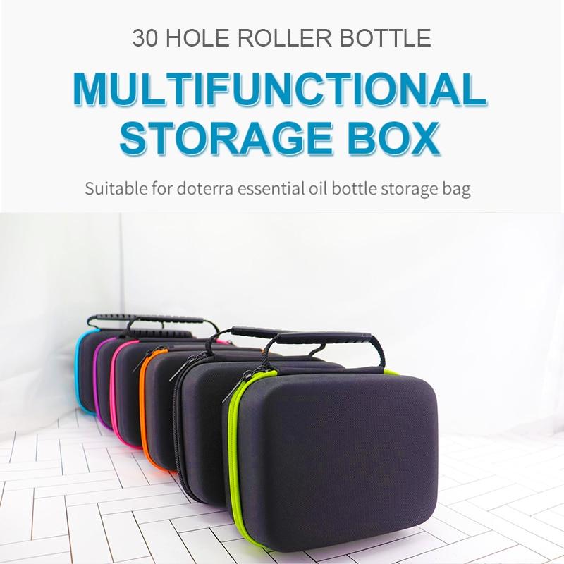 Essential Oil Case 30 Bottles 5ML Perfume Oil Essential Oil Box Travel Portable Carrying Holder Nail Polish Storage Bag недорого