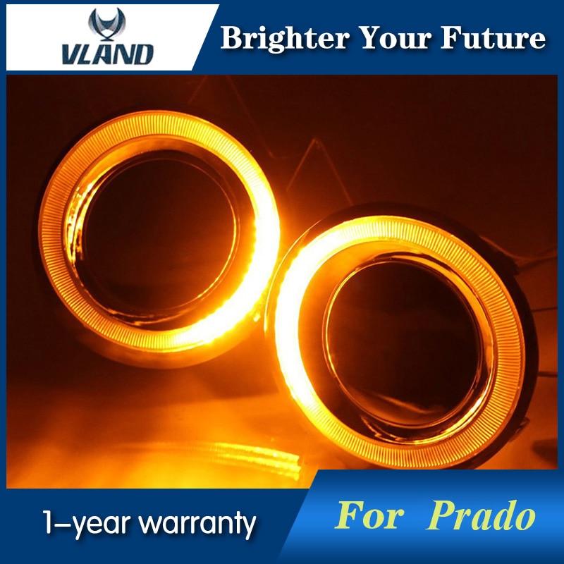 Car Styling For Toyota Prado FJ150 LC150 2014 2015 LED Daytime Running Lights DRL Yellow Turn Light