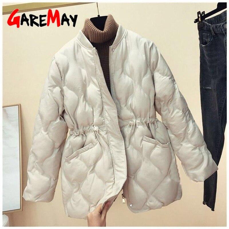 Invierno 2020 nueva versión coreana de la sección larga suelta de ropa de algodón chaqueta suelta de algodón de las señoras Chaqueta de algodón