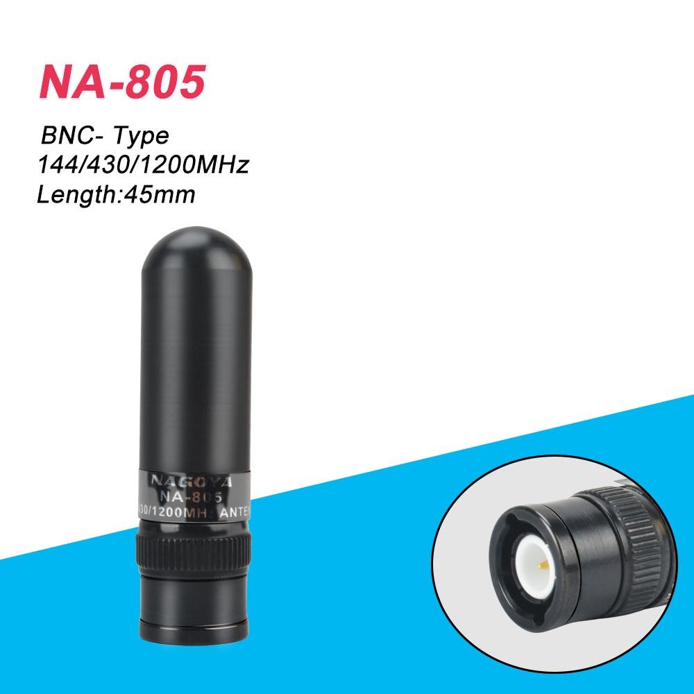 Подлинная оригинальная Nagoya NA-805 Двухдиапазонная VHF UHF 144/430/1200 МГц BNC антенна для Kenwood ICOM IC-V85 IC-V82 Motorola IC-V80