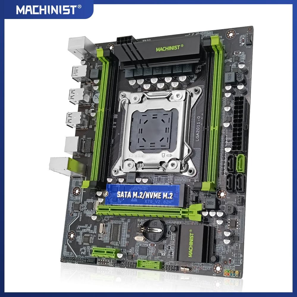MACHINIST X79 desktop motherboard LGA 2011 Support DDR3 REG ECC RAM Intel Xeon E5 v1&v2 Processor X79 V2.82H