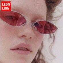 Leonlion cateye retro óculos de sol feminino 2019 vintage óculos de sol para mulher/homem de luxo feminino pequenos oculos de sol feminino