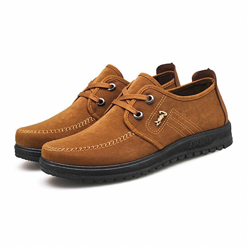De los hombres de la moda zapatos viejos zapatos de tela de Beijing de primavera de los hombres nuevos zapatos de los hombres transpirable antideslizante zapatos de papá zapatos casuales zapatos