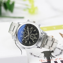 Casual Stainless Steel Sport Quartz Watch For Men Hour Wrist Analog Watch The Three-eye Dial Is For