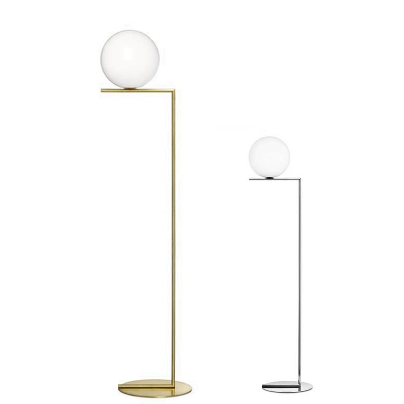 Creative Simple Floor Lamps Glass standing lamp Chrome plating Gold living room bedroom new design art home decoration lighting