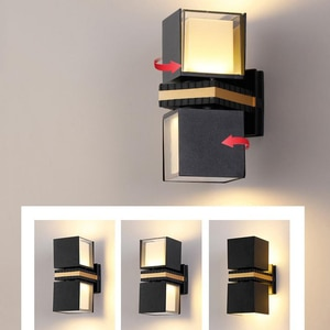 Rotatable Wall Lamp Indoor Outdoor Garden Light LED 6W 12W Waterproof Aluminum For Home Bedroom Living Room Stairs Wall Decor