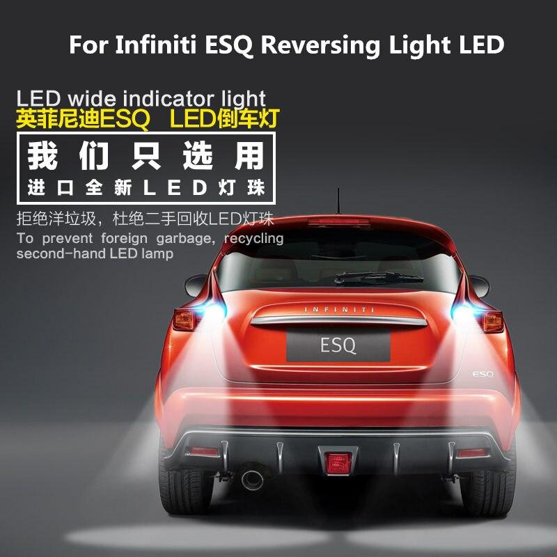 2 piezas para Infiniti ESQ 2014-2019 Luz de marcha atrás LED T15 9W 5300K luz auxiliar de retiro ESQ luz de Refit