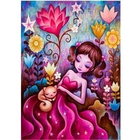 Kit de peinture de diamant 5D pour fille  broderie complete ronde avec perceuse AB  fleur  Animal  mosaique  Art  decorations pour la maison  bricolage