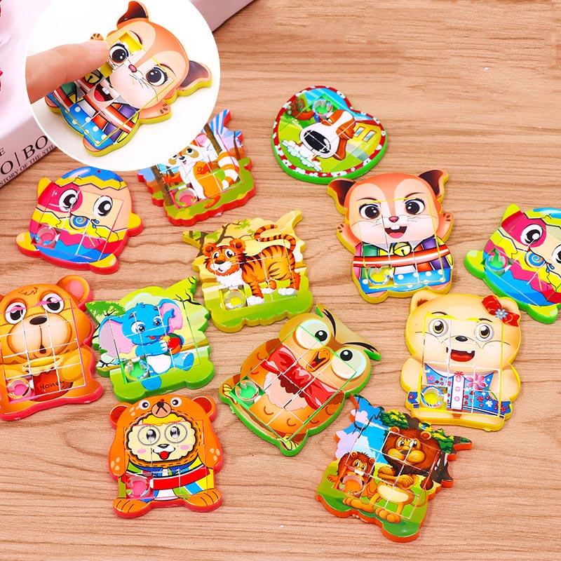 24 piezas regalos premios niños juguete fiesta suministros pequeño puzle juguete cumpleaños Pinata rellenos fiesta regalo favores aula caja del tesoro