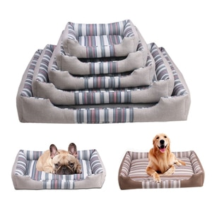 Rectangle Dog Bed Pet Sofa Lounger Bed Blanket Pad For Small Large Dog Warm Cat House Baskets Removable Nest Dog Accessories