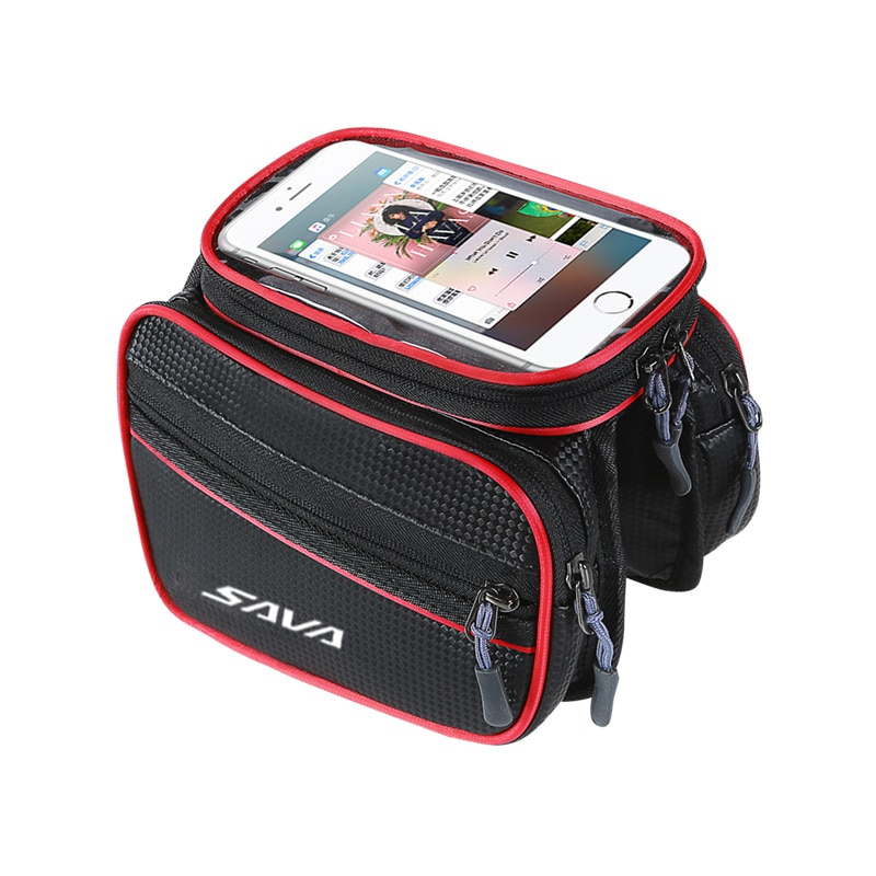 SAVA Bike frame bag bicycle phone bag cycling bicycle frame bag for phone under 6.2 inch bicycle mountain bike frame bag