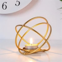 imuwen metal candle holder gold candlestick fashion geometric patterns candle stand exquisite candlestick table home decor im738