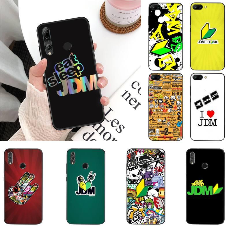 Babaite pegatina bomba comer dormir JDM DIY funda de teléfono de lujo para Huawei Honor 8X 9 10 20 Lite 7A 7C 10i 9X jugar 8C 9XPro