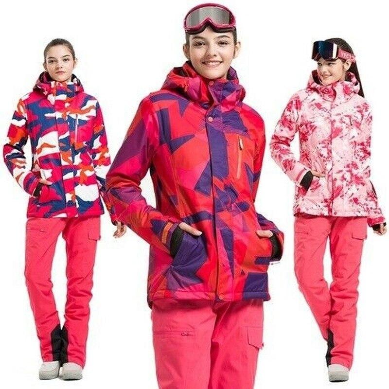 Ski Suit Women Warm Waterproof Skiing Suits Ladies Outdoor Sport Coat Snowboard