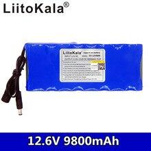 Liitokala 12 v 9800 mah bateria de lítio recarregável 3s3p dc capacitor cctv monitor da câmera