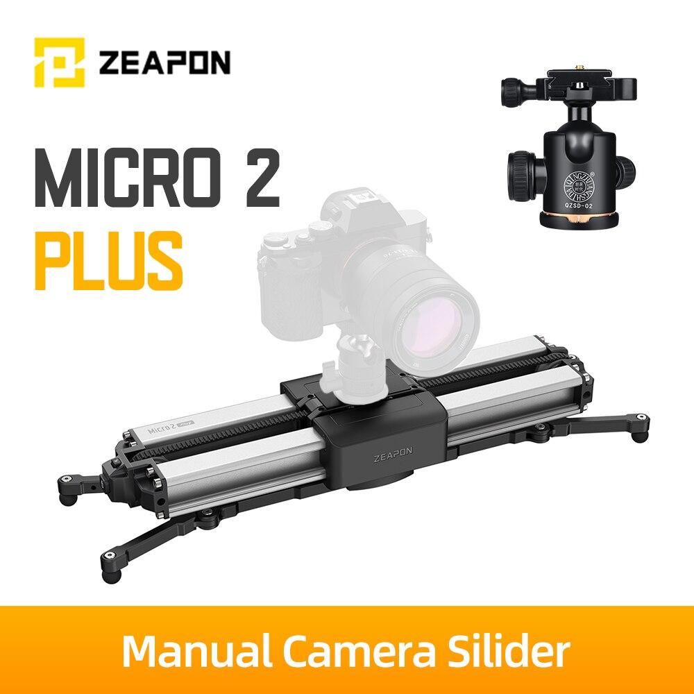 Zeapon Micro 2 Plus حامل كاميرا متحرك مسافة السفر 56 سنتيمتر/22in 4.5 كجم قدرة كل اتجاه 30s المغناطيسي الإفراج السريع قفل آمن