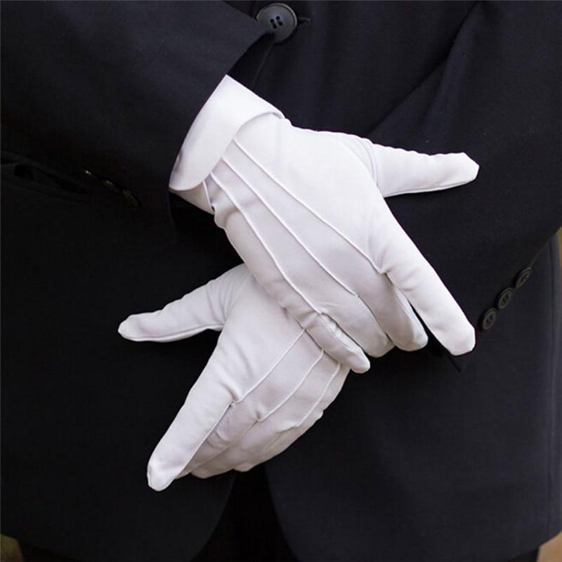 1Pair White Formal Gloves White Honor Guard Parade Santa Women Men Inspection