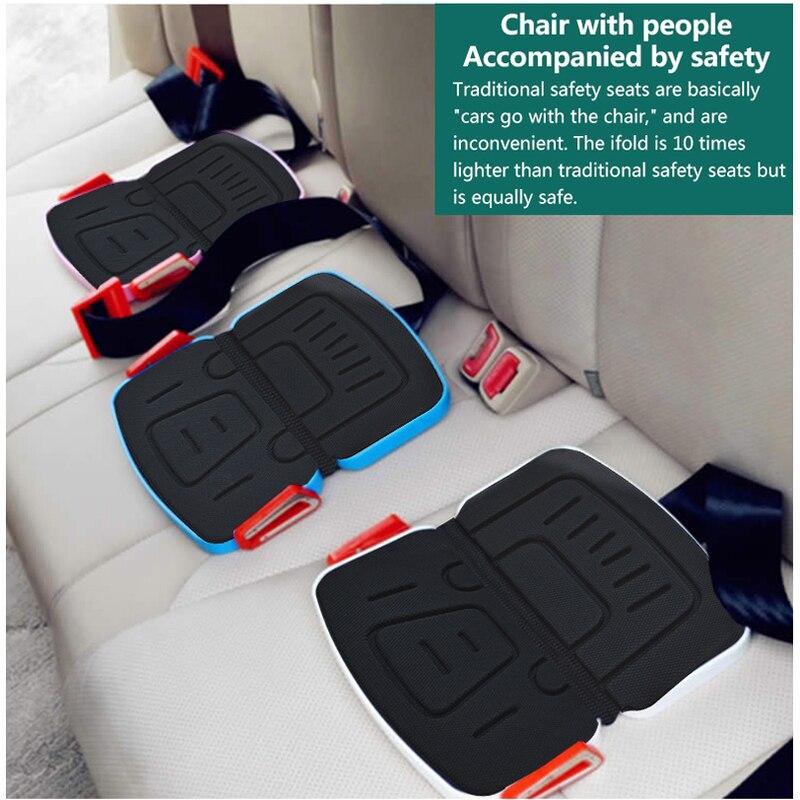 Ifold портативное детское автомобильное сиденье, подушка безопасности, упряжь, автомобильное сиденье, база, дорожный карман, складное автомоб...