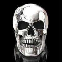 secret boys hip hop mens 316l stainless steel skull ring silver fashion broken skull punk gothic jewelry gift