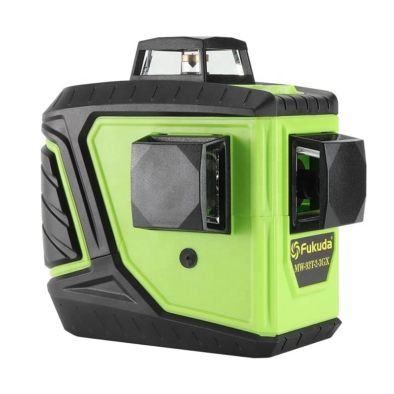 Verde 3D auto-nivelado 360 grados Horizontal y Vertical 12 líneas láser nivel 3d