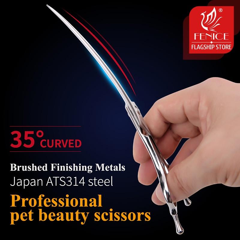 Ножницы из стали Fenice JP ATS314, 7 дюймов, 35 °, изогнутые