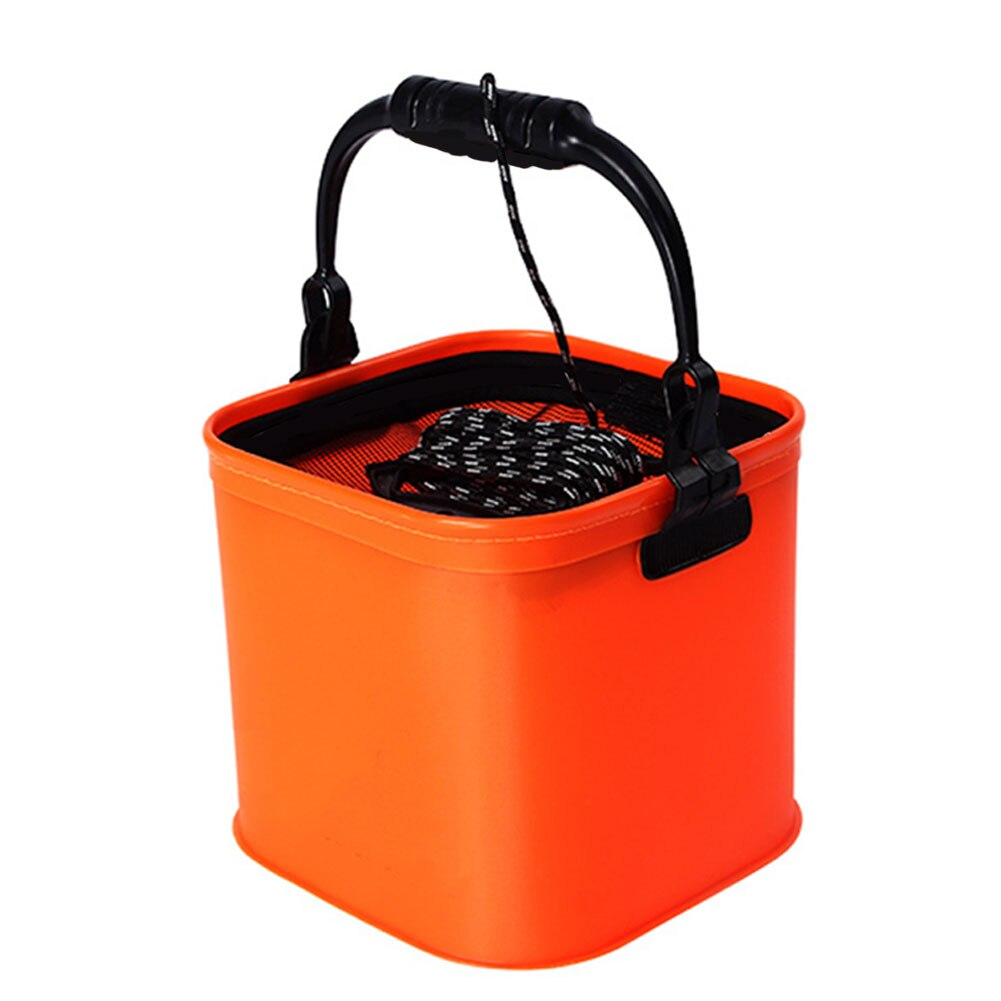 1Pcs Foldable EVA Water Bucket With Rope Belt Outdoor Collapsible Bag Carp Fishing Tackle Box Camping Fishing Accessories